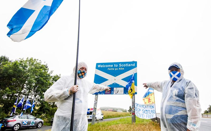 A demonstration on the border last weekend - Euan Cherry/Euan Cherry