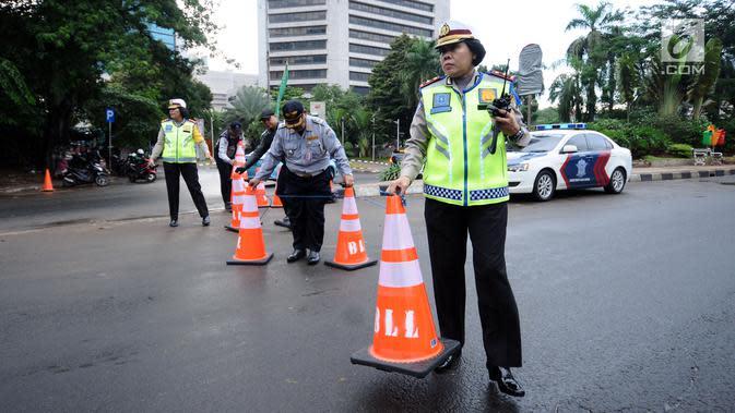 Akses Menuju Istana Ditutup, Polisi Lakukan Rekayasa Lalu Lintas
