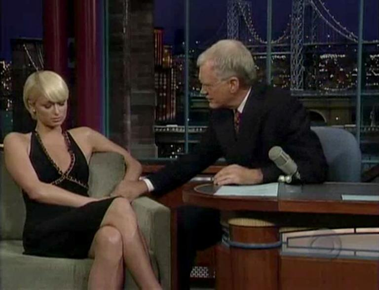 20 Classic 'Late Show' Moments We're Glad We Stayed Up For: Dave grills Paris Hilton about her time in jail in 2007