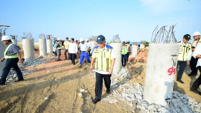 Pembangunan akses Pelabuhan Patimban (dok: PUPR)