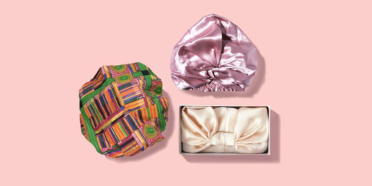 """<p>If you're looking to protect your <a href=""""https://www.goodhousekeeping.com/beauty/hair/g3536/natural-hairstyles/"""" target=""""_blank"""">natural hairstyle</a>, hair bonnets are a staple to have in your arsenal. These sleep caps keep your <a href=""""https://www.goodhousekeeping.com/beauty/hair/a32733411/curl-hair-types/"""" target=""""_blank"""">curls</a> luscious, defined, and hydrated while helping to protect hair from split ends and shield against <a href=""""https://www.goodhousekeeping.com/beauty/hair/a28186415/frizzy-hair-tips/"""" target=""""_blank"""">frizz</a> by reducing friction between your hair and your <a href=""""https://www.goodhousekeeping.com/home-products/pillow-reviews/a19289/best-pillows/"""" target=""""_blank"""">pillow</a> while you sleep. While solutions like <a href=""""https://www.goodhousekeeping.com/home-products/a28037094/silk-pillowcases-benefits/"""" target=""""_blank"""">silk pillowcases</a> can help, bonnets go the extra mile by fully encasing your hair, keeping friction to a bare minimum. Plus, bonnets lock in any products that you use on your hair before bed, which means that they actually absorb into your hair, not your pillowcase. <br></p><p>Both silk and satin will do a great job protecting your spirals, but there are a few key differences between the materials: </p><ul><li><strong>Silk</strong> is a fiber made by the bombyx mori moth. """"Real silk feels much more luxurious and has built-in temperature regulation properties so it's overall more comfortable,"""" says <a href=""""https://www.goodhousekeeping.com/author/1540/lexie-sachs/"""" target=""""_blank"""">Lexie Sachs</a>, Good Housekeeping Institute Textiles Director. See some brands saying their products are made of Mulberry silk? That means that moths have only been fed Mulberry leaves. """"This type of silk is considered the highest quality, but not all silk fabrics are Mulberry silk,"""" says Sachs. If you want a natural and more luxe fiber, silk is your best bet.</li><li><strong>Satin</strong> is a weave, so many silk fabrics are also satin."""