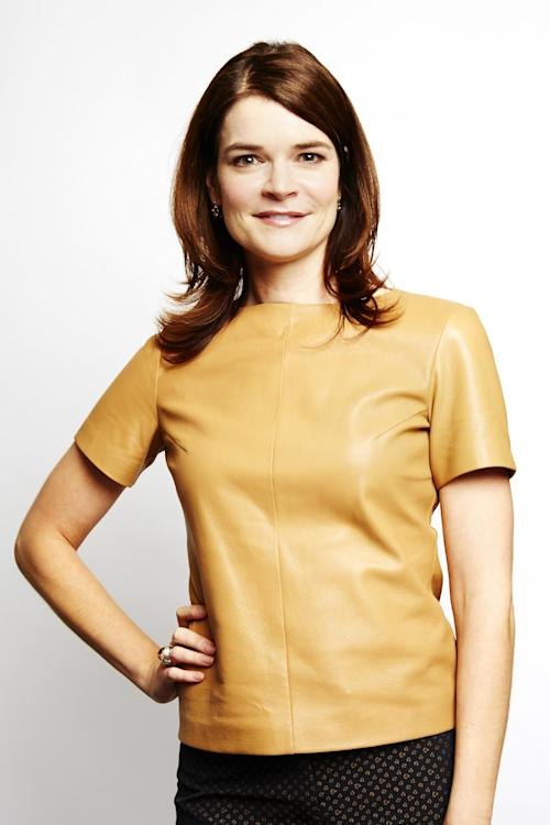 "This Sept. 25, 2013 photo shows actress Betsy Brandt in New York. Brandt stars in the AMC series ""Breaking Bad,"" which ends its series run on Sunday. She also stars in the new comedy ""The Michael J. Fox Show,"" premiering Thursday, Sept. 26, on ABC. (AP Photo/Invision, Dan Hallman)"
