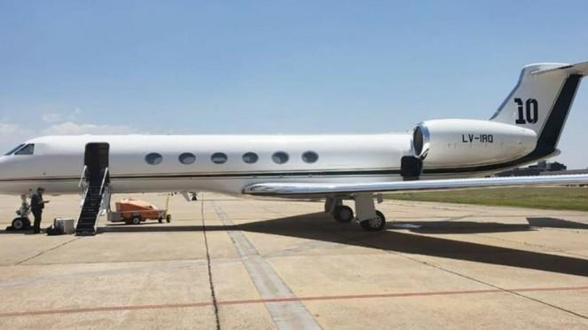 Jet mewah milik Lionel Messi