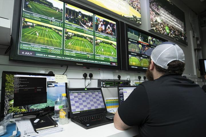IBM staff working during The Championships 2018. Held at The All England Lawn Tennis Club, Wimbledon