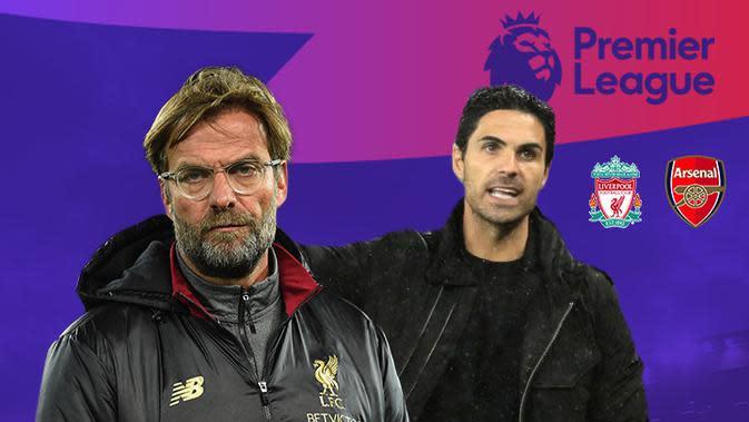Prediksi Liverpool vs Arsenal: Jurgen Klopp vs Mikel Arteta. (Bola.com/Dody Iryawan)