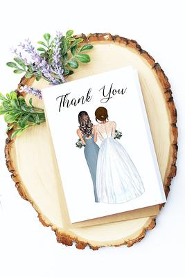 Wedding Thank You Cards - FPS0021 Matron of Honor Gift Bridal Party Card Thank You For Being My Matron of Honor Card
