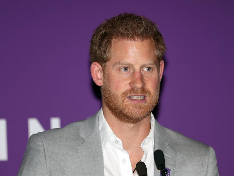 A photo of Prince Harry, The Duke of Sussex at the Diana Award National Youth Mentoring Summit at Banking Hall, in the City of London.