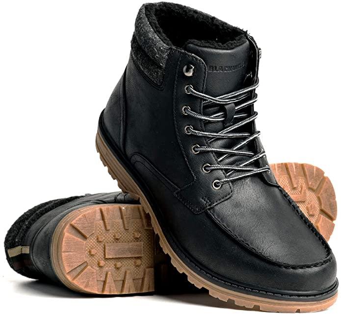 Blackwell Mens Benji Vegan Leather Lace Up Boot. Image via Amazon.