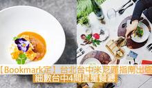 【Bookmark定】台北台中米芝蓮指南出爐 細數台中4間星星餐廳