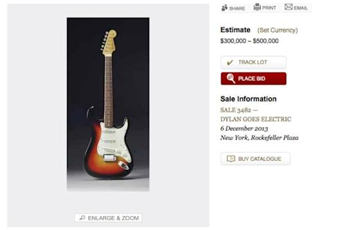 Reputed 'Dylan Goes Electric' Guitar Up For Auction