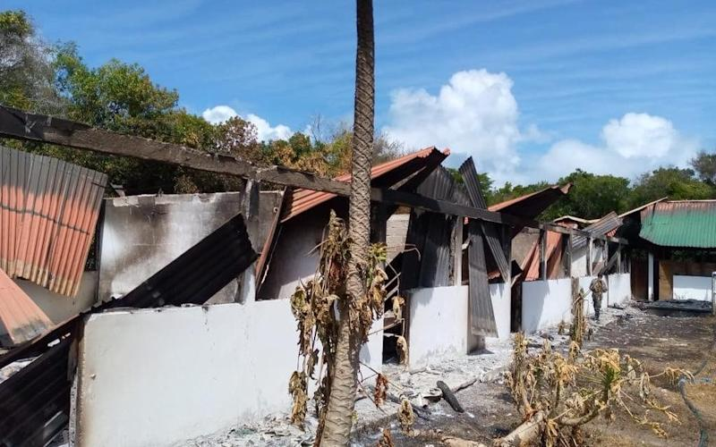 Image shows aftermath of the fire