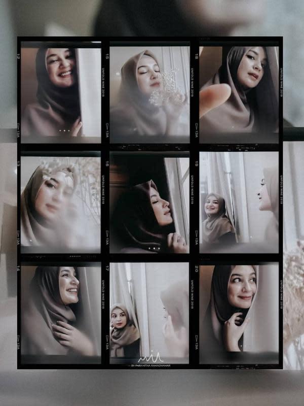 Gaya Pemotretan Virtual Keluarga Shireen Sungkar dan Teuku Wisnu. (Sumber: Instagram.com/mithamotret_)