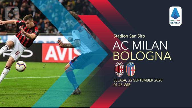 Dapatkan Link Live Streaming AC Milan Vs Bologna di Vidio, Malam Ini Pukul 01.35 WIB