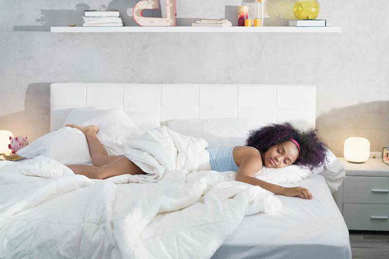 What does your go-to sleeping position say about your personality? [Photo: Getty]