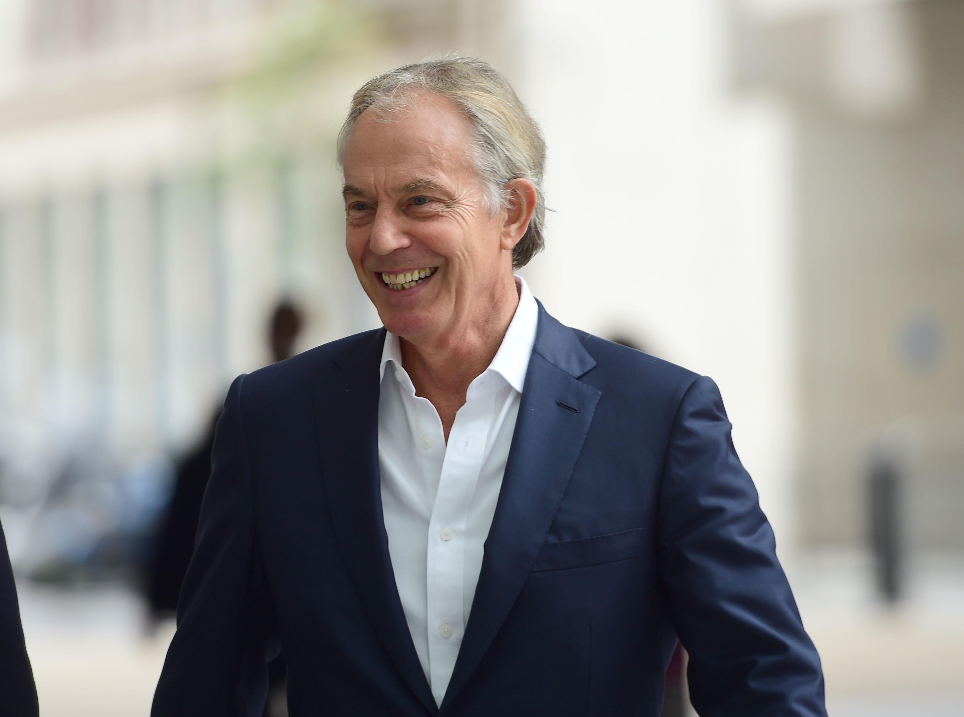 Former prime minister Tony Blair outside the BBC's New Broadcasting House this week. (PA)