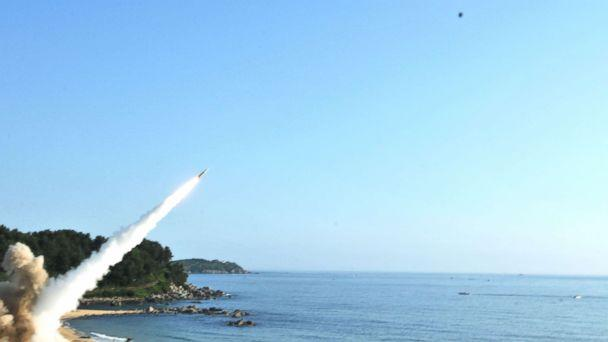 PHOTO: The U.S. Army released images from the U.S. and South Korea's missile launches into the Sea of Japan in response to the North Korean missile launch, July 4, 2017. (U.S. Army)