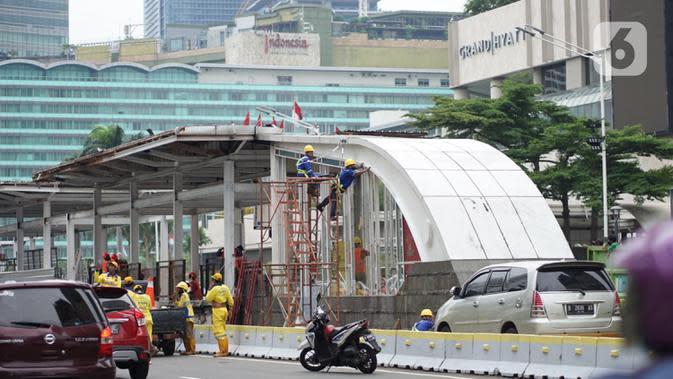 Sebagian Halte Transjakarta yang Terbakar Saat Demo Kembali Beroperasi 12 Oktober