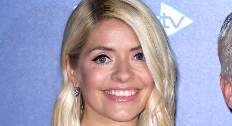 Holly Willoughby showcases another favourite midi dress from M&S' new collection. (Getty Images)