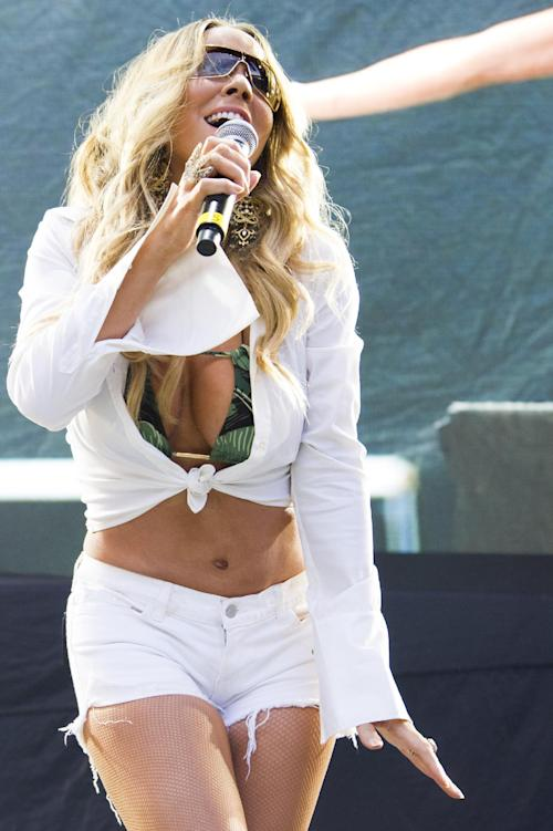 Mariah Carey performs at the Hot 97 Summer Jam XX on Sunday, June 2, 2013 in East Rutherford, N.J. (Photo by Charles Sykes/Invision/AP)