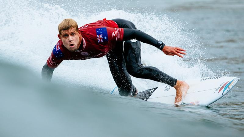 Mick Fanning at the Rip Curl Pro at Bells Beach in 2018. (Photo by Ed Sloane/World Surf League via Getty Images)