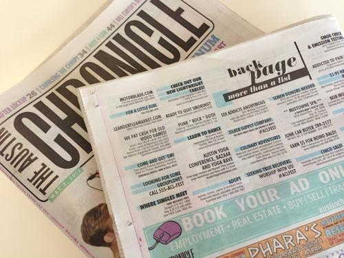 Austin City Limits Drops Clues in the Classifieds