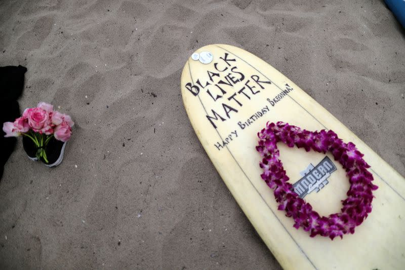 Black girls and supporters surf around the world to honour George Floyd