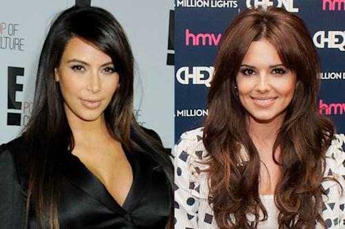 Kim Kardashian, Cheryl Cole -- Getty Images