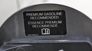Regular cars that take premium gasoline