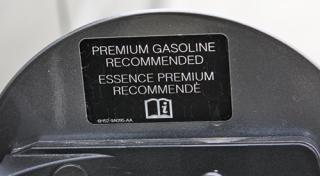 Regular cars that take premium gasoline