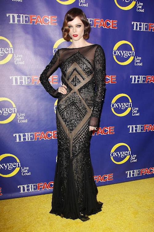 "This Feb. 5, 2013 photo released by Starpix shows model Coco Rocha at the premiere of the Oxygen network series, ""The Face,"" in New York. Rocha, along with models Naomi Campbell and Karolina Kurkova, are coaches to aspiring models in a competition to find the next face of beauty retailer ULTA Beauty. The show, hosted by fashion photographer Nigel Barker, premieres on Feb. 12 at 9 p.m. EST on Oxygen. (AP Photo/Starpix, Kristina Bumphrey)"