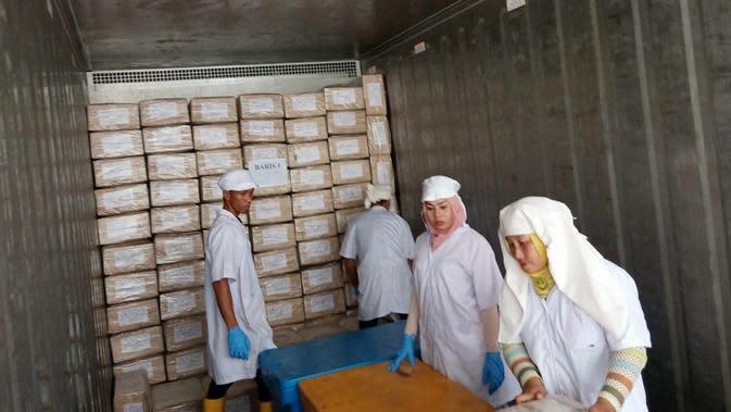 Perum Perindo ekspor gurita ke Jepang (dok: Perum Perindo)