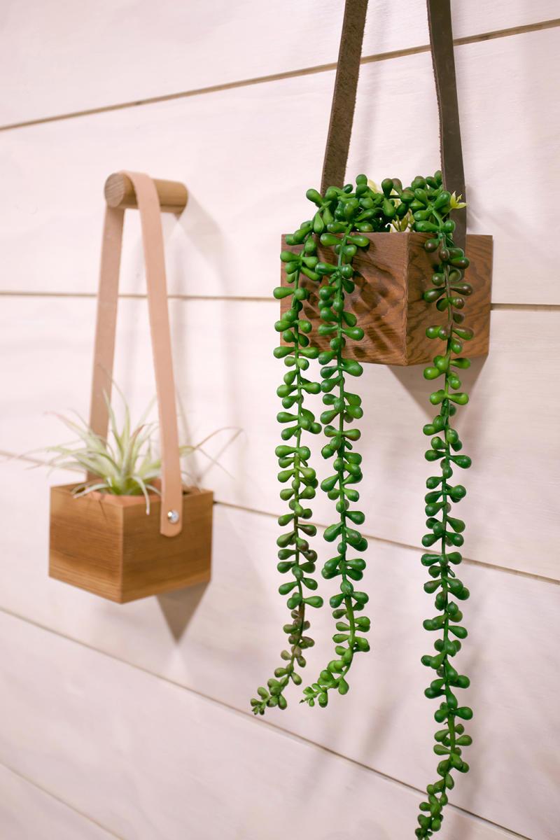 Hanging cedar planter. Image via Etsy.