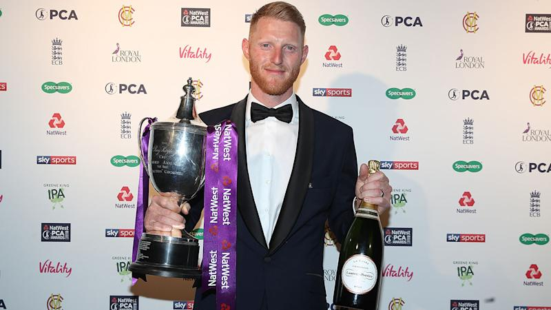 Ben Stokes, pictured here at the PCA Awards.