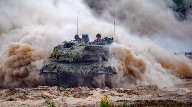 VIVA Militer: Tank tempur militer Jerman.