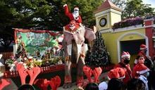 泰國耶誕大象入校園向學童推廣防疫