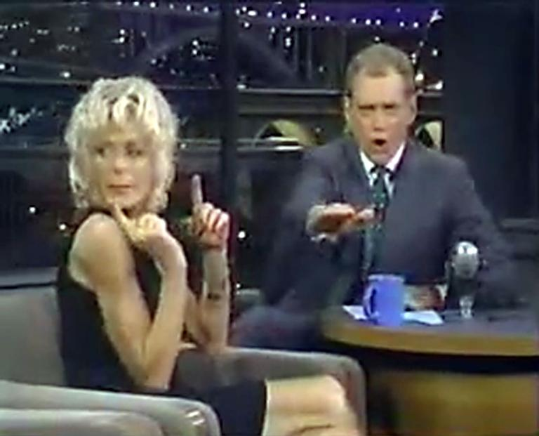 20 Classic 'Late Show' Moments We're Glad We Stayed Up For: Farrah Fawcett's loopy interview in 1997