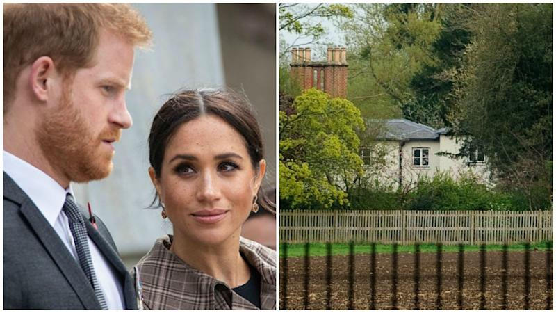Meghan Markle and Prince Harry's home Frogmore Cottage in Windsor is now reportedly a 'fortress'.