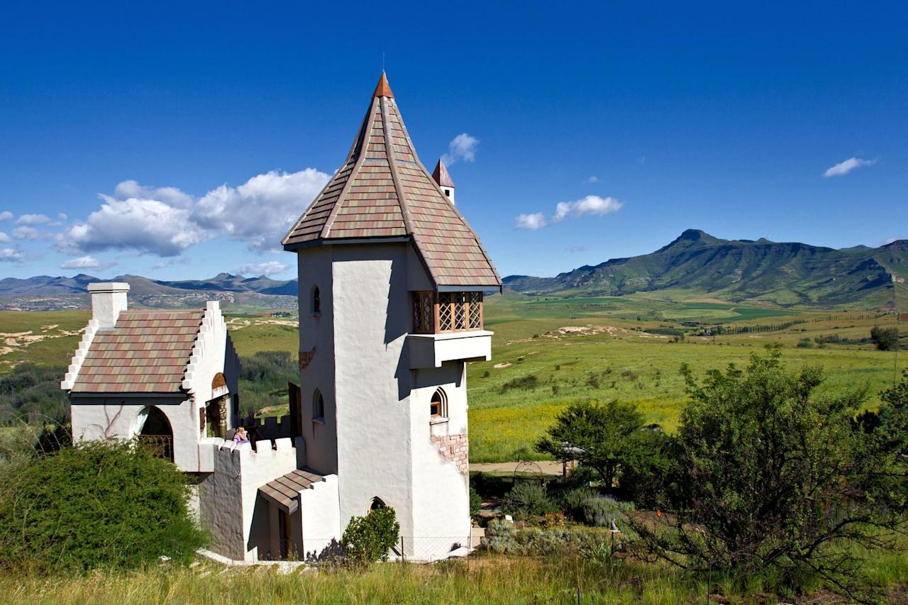 "<p>Let down your hair like Rapunzel in the arts town of Clarens with this magical tower. Inspired by the fairytale, Rapunzel's Tower, or the Castle, offers picturesque views of the Maluti Mountains and the flourishing vegetable garden with rampion below. The castle's interiors features decor and treasures from across the world including cornerstones from Windsor Castle.</p><p><a class=""body-btn-link"" href=""https://www.castleinclarens.co.za/"" target=""_blank"">Book Now</a><br></p>"