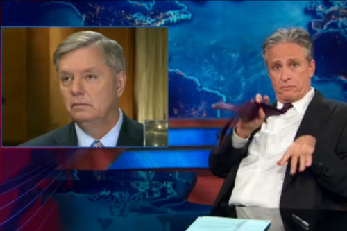 Jon Stewart: 'Oh, So With Guns, the Constitution Is Ironclad. With Terrorism, It's a List of Suggestions' (Video)