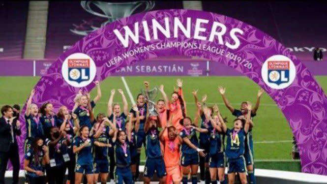5 Pemain Cantik Lyon Peraih Juara Liga Champions Putri