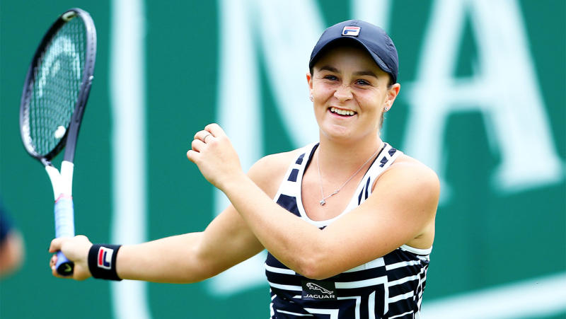 Ash Barty's career earnings has sky rocketed this year. (Getty Images)