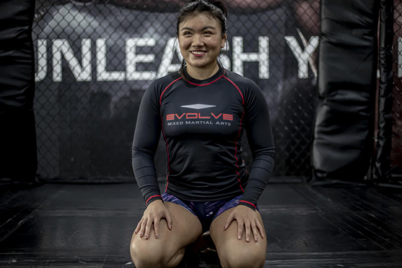 Singapore national wrestler Danielle Lim, who is the second recipient of the Evolve Warrior Scholarship. (PHOTO: Evolve MMA)