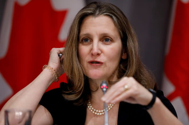 Canada's Trudeau taps ally Freeland as finance minister, promises bold recovery plan