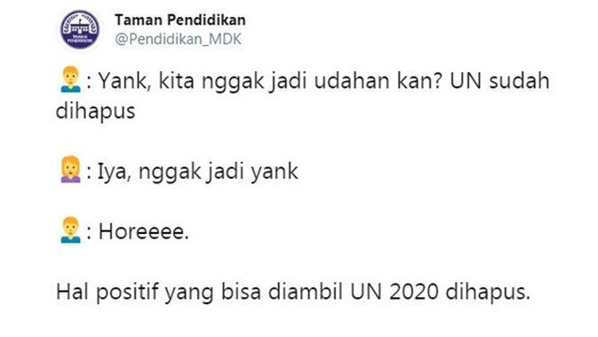 Curhatan netizen (Sumber: Twitter/Pendidikan_MDK)