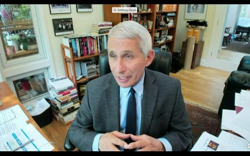 Dr. Anthony Fauci testifies remotely to the Senate Committee for Health, Education, Labour, and Pensions hearing on the coronavirus disease (COVID-19) response in Washington