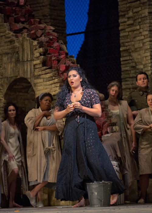 "In this Sept. 22, 2012 photo provided by the Metropolitan Opera, Anita Rachvelishvili performs in the title role in Bizet's ""Carmen,"" during a rehearsal at the Metropolitan Opera in New York. (AP Photo/Metropolitan Opera, Ken Howard)"