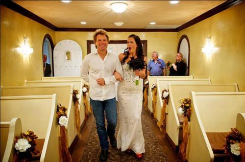 Here Comes the Bride…and Bon Jovi! Rocker Walks Superfan Down the Aisle in Vegas