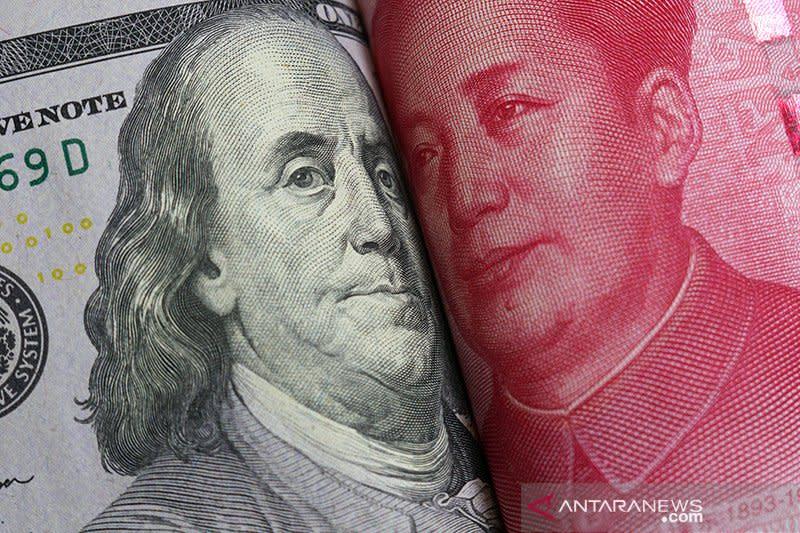 """Yuan """"rebound"""" 14 basis poin setelah melemah 5 hari berturut-turut"""