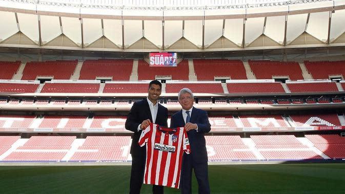 Luis Suarez resmi menjadi pemani Atletico Madrid. (foto: Instagram @atleticodemadrid)