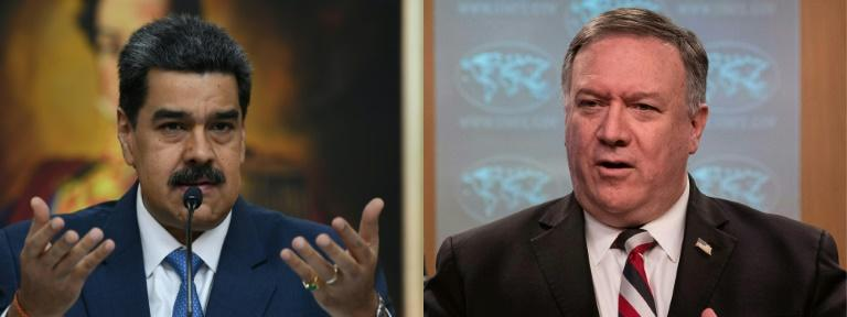 US Secretary of State Mike Pompeo (right) says that Washington still wants to remove Venezuelan President Nicolas Maduro (left)
